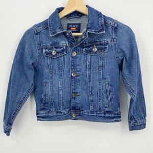 The Children's Place denim jacket girls size Small